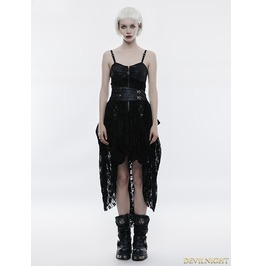 Black Lace High Low Steampunk Dress Wq 345 Bk