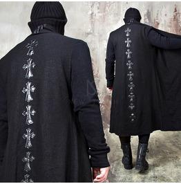 Celtic Cross Ruffle Shawl Long Coat 166