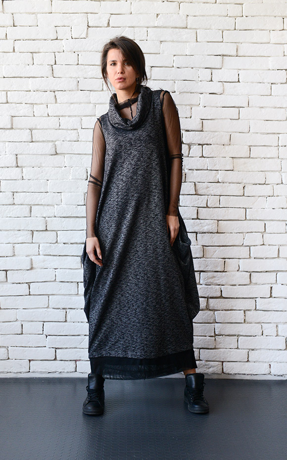 Black Maxi Dressoversize Long Topplus Size Tunicsleeveless Long