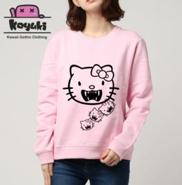 Hello Kitty Vampire Pastel Gothic Kawaii Cute Street Style