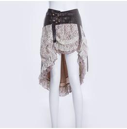 Steampunk Peplum Skirt With Belt Sp014