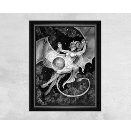 Succubus Space Faerie Casting A Spell On Earth Print