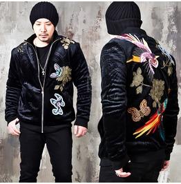 Oriental Phoenix Velour Zip Up Jacket 320