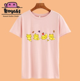 Cute Little Fox Pastel T Shirt