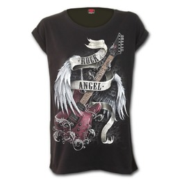 Rock Angel Turnup Sleeve Loosefit Tee
