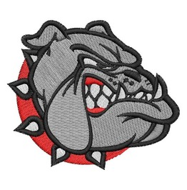 12 Pcs Bulldog Face Mascot Patch Iron On Applique Embroidered Patches