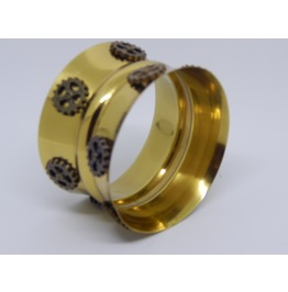 Solid Brass Cuff With Gears.