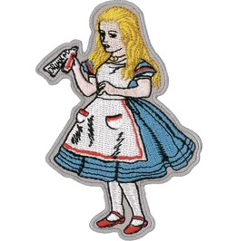 Alice In Wonderland Embroidered Patch 9cm X 6cm