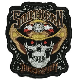 Steampunk Biker Patches Large Cowboy Skull