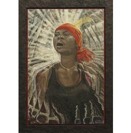 African Shamanic Ritual Print 42x63 Bwiti Women
