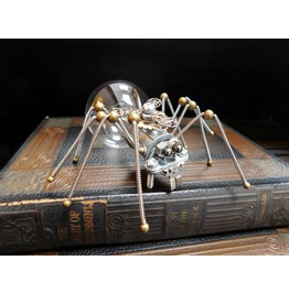 Steampunk Spider Light Bulb Sculpture