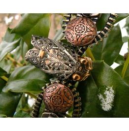 Steampunk Cicada Zipper Cuff