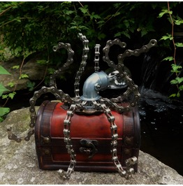 Steampunk Octopus Light Up Sculpture