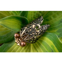 Steampunk Cicada Zipper Brooch