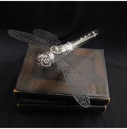 Steampunk Metal Dragonfly Sculpture