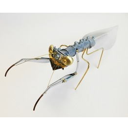 Steampunk Metal Praying Mantis Sculpture