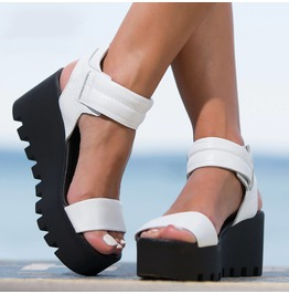 Genuine Leather Espadrilles/Sexy Extravagant Must Have Wedges/Woman Genuine Leather Platform Sandals