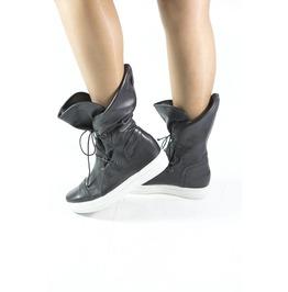 Black Genuine Leather Sneakerts/Woman Genuine Leather Sneakers/Extravagant Leather Sneakers