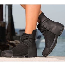 New Collection/Genuine Leather Casual Boots/Woman Leather Boots/Extravagant Genuine Leather Boots/Black Leather Boots