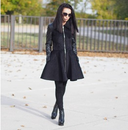 Extravagant Long Coat/Woman Exo Fur Jacke/Woman Vegan Leather Coat/Black Asymmetric Coat/Extravagant Long Asymmetric Coat