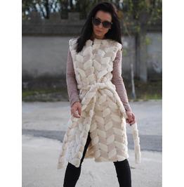 Eco Fur Vest/Long Eco Fur Vest/Woman Vegan Vest/Extravagant Long Vest/Woman Sleeveles Coat/Eco Fur Jacket/Woman Sleveles Jacket
