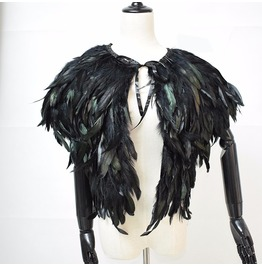 Feather Shawl Top