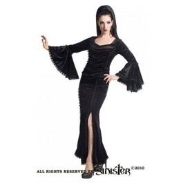 Gothic Medieval Victorian Velvet Lace Black Splits Long Skirt By Sinister