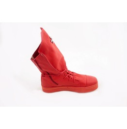 Red Genuine Leather Sneakers/Woman Genuine Leather Sneakers