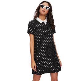 Vintage Women's Polka Dot Straight Dress