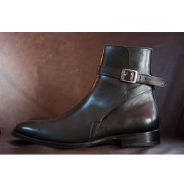 Handmade Men Brown Leather Jodhpurs, Men Brown Ankle Boots,, Men Boots