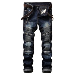 Rebelsmarket punk rock mens ripped hip hop pants jeans 8