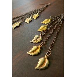 Steampunk Leaf Dangle Earrings