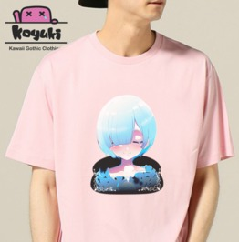 Rem Re Zero Pink Tshirt Unisex Anime Clothing Harajuku