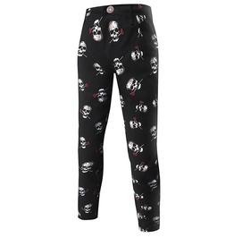 Punk Rock Men's Skully Cotton Jeans