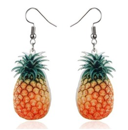 Fun Fruity Lightweight Plastic Pineapple Earrings