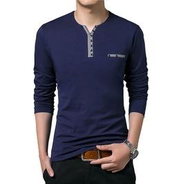 Streetwear Urban Men's Slim Fit Long Sleeve Shirt