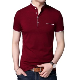Trendy Men's Mandarin Collar Polo Shirt