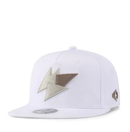 Unisex's Triangular Embroideried Colorblock Color Snapback Hat Cap