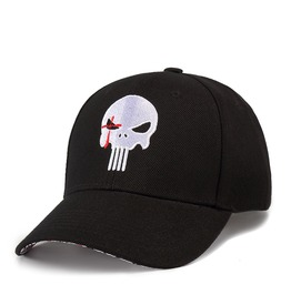 Unisex's Punk Rock Skull Embroideried Adjustable Outdoor Baseball Cap