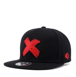 Unisex's Colorblock Cross Embroideried Hip Hop Dancing Snapback Hat Cap
