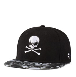 Unisex's Personality Skull Embroideried Hip Hop Dancing Snapback Hat Cap