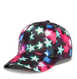 Unisex's Gradation Color Stars Printed Outdoor Baseball Cap
