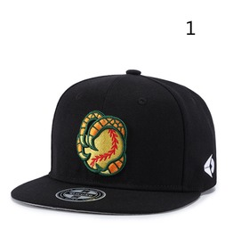 Unisex's Personality Contrast Paws Embroideried Hip Hop Dancing Hat