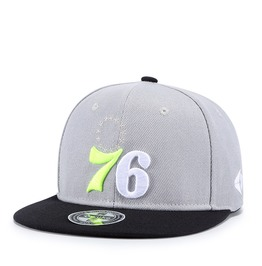 Unisex's Number 76 Embroideried Contrast Color Snapback Hat Baseball Cap