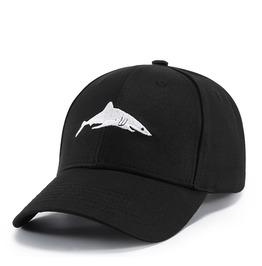 Unisex's Shark Embroideried Cotton Outdoor Baseball Cap