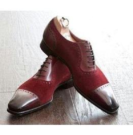 Men Two Toned Shoes, Men Fashion Burgundy Dress Shoes, Men Formal Shoes