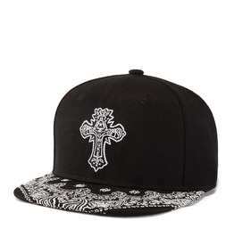 Unisex's Cross Embroideried Hip Hop Snapback Hat