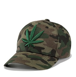 Unisex's Fasion Hempleaf Embroideried Camouflage Baseball Cap
