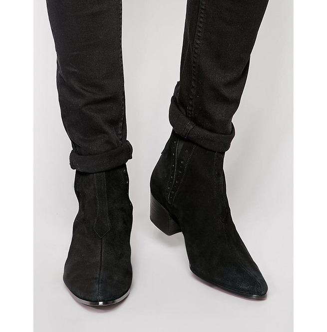 Mens Black Ankle Boots