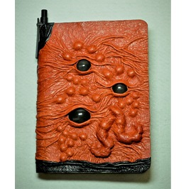 Large Tan Brown Black Leather Journal, Notebook Daily Organizer, Blank Book